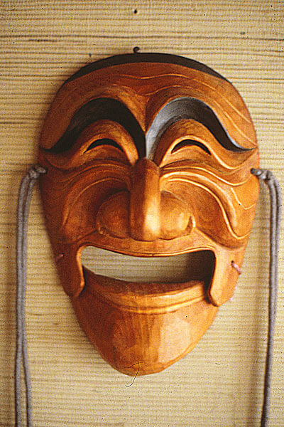 Mask Theatre Satirical Folk Dances Asian Traditional Theatre