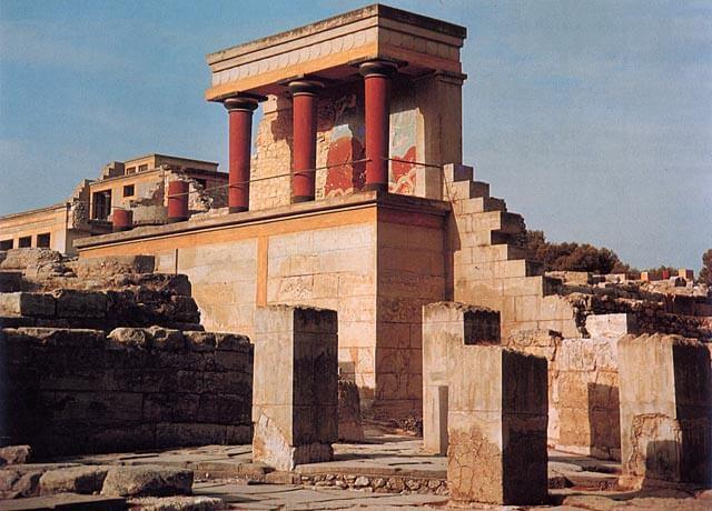 Knossoksen palatsialuetta, n. 1600–1400 eaa. [Kreeta]
