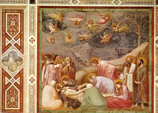 Giotto: Kristusta itketään, 1304–1313 [Scrovegni-kappeli, Padova]