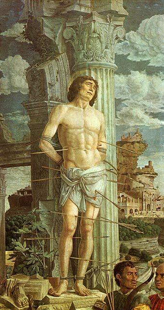 Andra Mantegna: Pyhä Sebastian, n. 1470 [Louvre, Pariisi]
