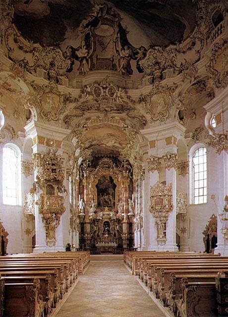 Dominikus Zimmermann: Wieskirche, 1700-luvun puoliväli [Saksa]