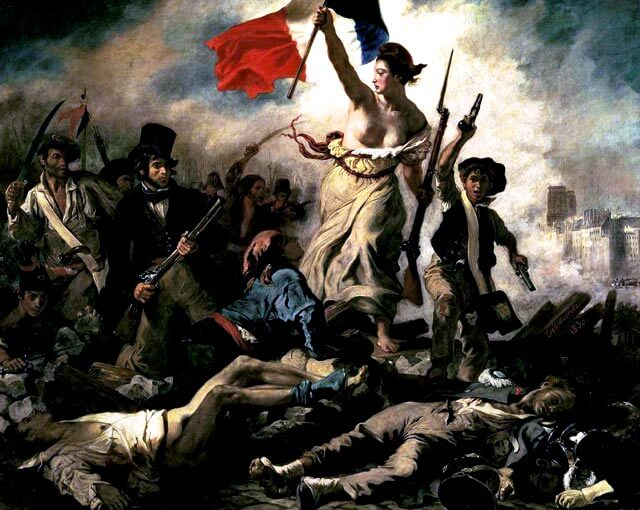 Eugène Delacroix: 28. heinäkuuta, Vapaus barrikadeilla, 1830 [Louvre, Pariisi]