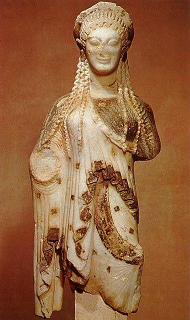 Kore, n. 510 eaa. [Akropolin museo, Ateena]