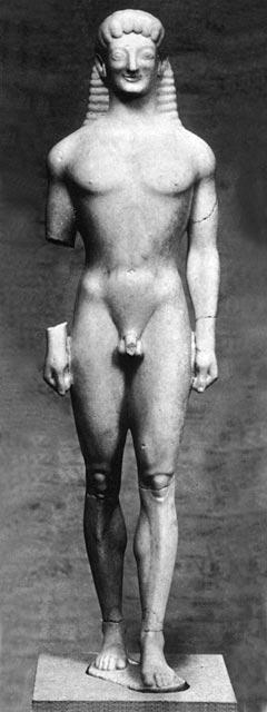 Kuros, n. 570 eaa. [Staatliche Anikensamlung und Glyptotek, München]