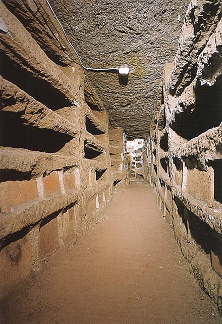Priscillan katakombien hautoja [Prscillan katakombit, Rooma]